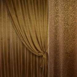 """Жаккард портьерный """"песок"""" коричнево-золотистый, ш.280 оптом"""