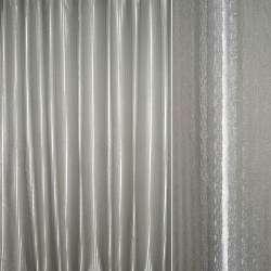 Атлас жаккардовый 2-ст. серый светлый в полоску ш.280