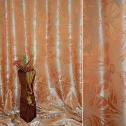 """Атлас жаккардовый 2-ст. рыжий """"цветы"""", ш.280"""