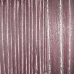 "Атлас жаккардовый розово-серый ""волны"" ш.280"
