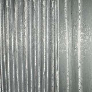 """Атлас жакардовий """"завитки"""" сріблястий ш.280 оптом"""