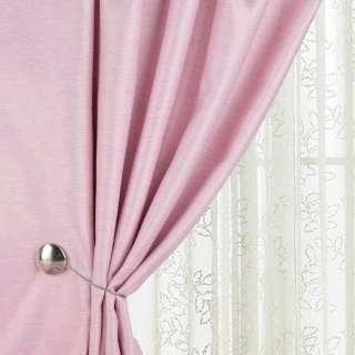 Жаккард для штор діагональний рельєф меланж рожевий, ш.280 оптом