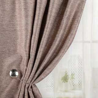 Жаккард для штор діагональний рельєф меланж коричневий, ш.280 оптом