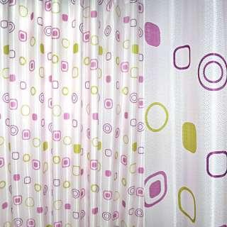 Атлас жак. порт. бледно-розовый с абстракцией ш.270 оптом