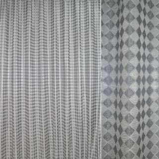 Жаккард з метаниткою сірий в сріблясті ромби ш.275 оптом