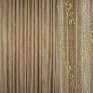 тканину порт.двойная коричнево-золот. з органзой, ш.280 оптом