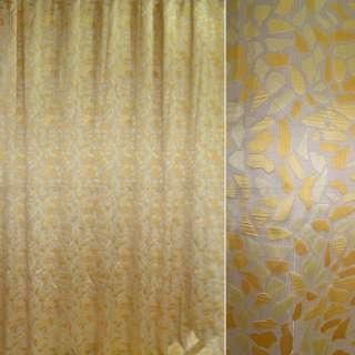 тканину порт.жакк. бежева з жовтими плямами, шір.295 см оптом