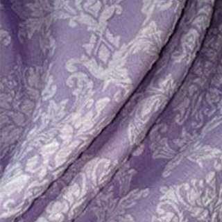 Фукра портьерная сиреневая с цветочным рисунком ш.280 оптом