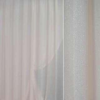 Кристаллон портьерный бледно-розовый травка с люрексом ш.280 оптом