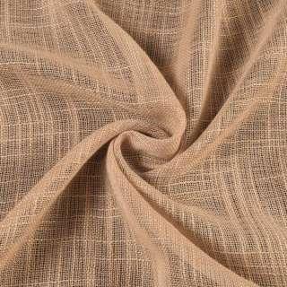 Льон портьєрний блідо-коричневий ш.280 оптом