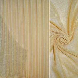 Льон портьєрний жовто-сірий ш.280 оптом