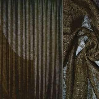 Льон портьєрний темно-болотний ш.280 оптом