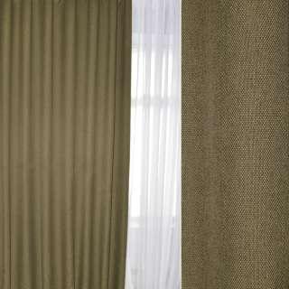 Блэкаут лен рогожка оливково-бежевая, ш.280 оптом