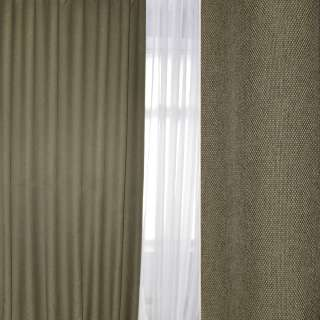 Блэкаут лен рогожка зелено-серая, ш.280 оптом