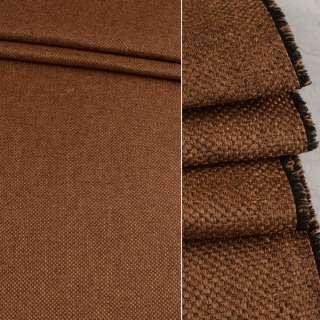 Блэкаут лен рогожка коричнево-рыжая ш.280 оптом