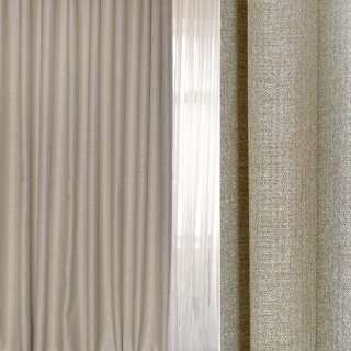 Блэкаут лен серый светлый с бежевым оттенком ш.280 оптом