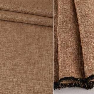 Блэкаут лен бежево-коричневый ш.280 оптом