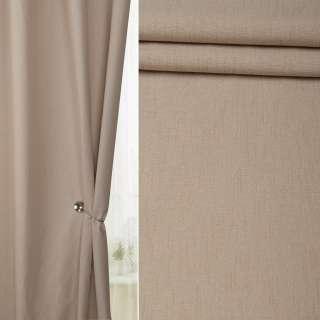 Льон для штор пісочний на білій плетених основі, ш.138 оптом