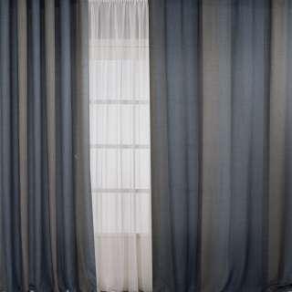 Льон для штор смуга бежева на сіро-синьому тлі, ш.308 оптом