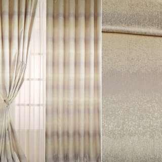 Льон для штор бежево-сріблястий з перламутровим відливом ш.300 оптом