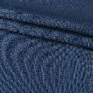 Рогожка мелкая (софт изнанка) синяя лазурная ш.280 оптом