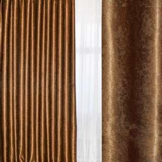 Софт муаровый с блеском коричневый, ш.280 оптом