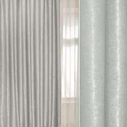 Софт муаровый с блеском серый светлый, ш.280 оптом
