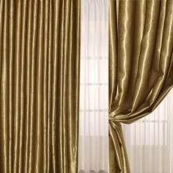 Софт муаровый с блеском золотисто-бежевый, ш.280 оптом
