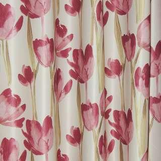 блэкаут св/серый с красными тюльпанами ш.270 оптом