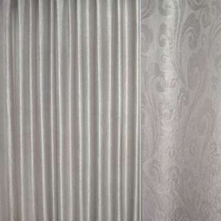 """Блекаут світло-сріблястий """"великі завитки"""" ш.280 оптом"""