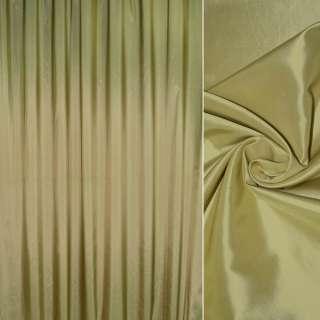 тафта порт. зеленая с золотым отливом гладкая, ш.280 оптом