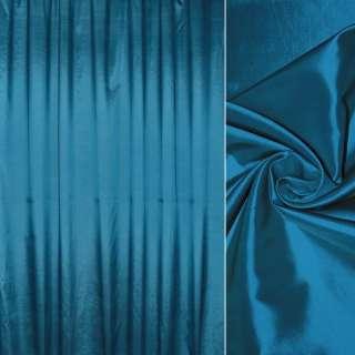 тафта порт. синяя с черным отливом гладкая, ш.280 оптом
