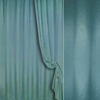 Шелк портьерный искусственный синий светлый с серым ш.280 оптом