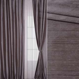 Шовк штучний для штор структурний бузково-коричневий, ш.150 оптом