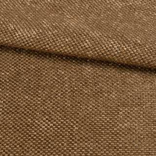 Рогожка шенилловая блэкаут 80% коричневая светлая, ш.280 оптом