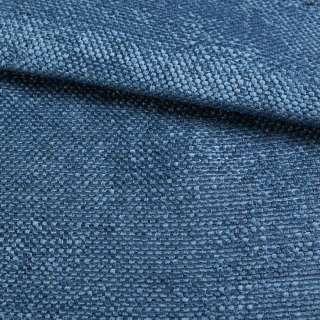Рогожка шенилловая блекаут лазурно-синяя ш.280 оптом