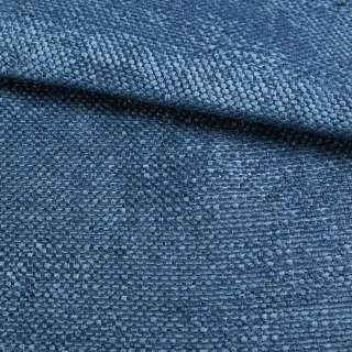 Рогожка шеніллова блекаут блакитно-синя ш.280 оптом