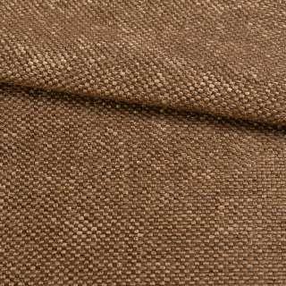 Рогожка шенилловая блекаут коньячно-коричневая ш.280 оптом