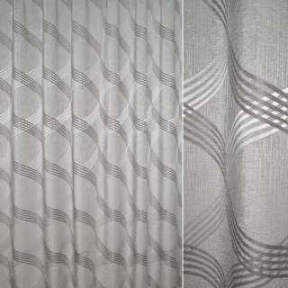 Жаккард портьєрний сірий світлий з пересічними овалами, ш.270 оптом