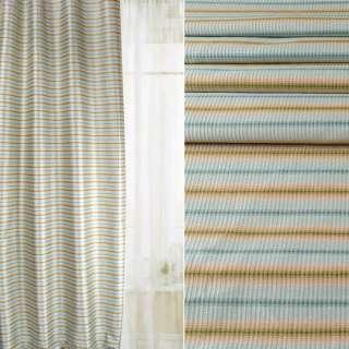 Жакард атласний для штор смуги розмиті сині, зелені, бежеві, ш.142 оптом