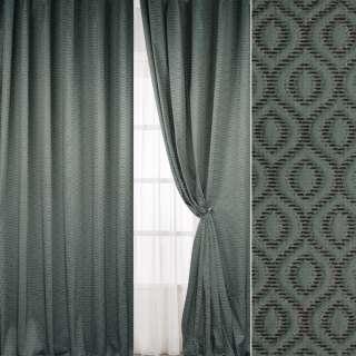 Жакард штрихи шеніллові коричневі зелений світлий, ш.296 оптом