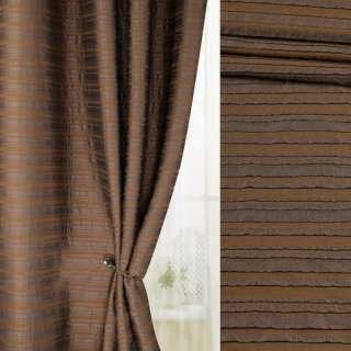 Фукра смужки коричневі на коричневому тлі, ш.140 оптом