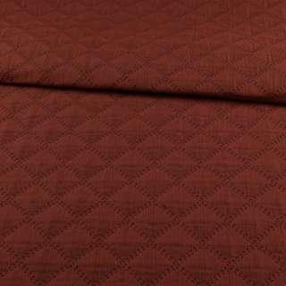 Стьобана тканина інтер'єрна ромби темно-сірий/теракотовий, ш.140 оптом