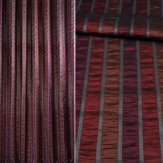 Фукра в бордові, коричневі, фіолетові смужки, ш.280 оптом