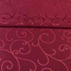 жаккард скатертный завитки бордовый, ш.320 оптом