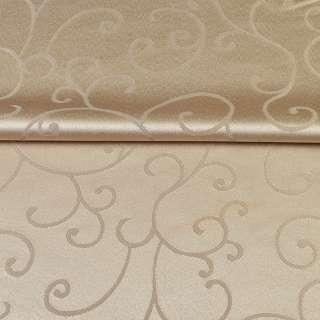 Жаккард скатертный завитки бежевый светлый, ш.320 оптом