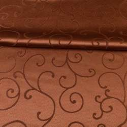 жаккард скатертный завитки коричневый, ш.320 оптом