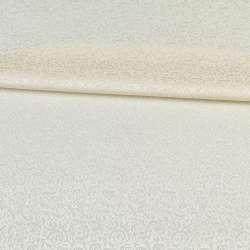Жаккард скатертный мелкие цветки молочный, ш.320