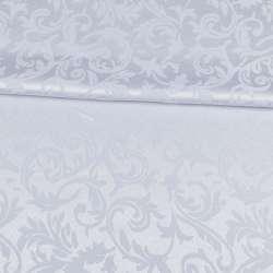 жаккард скатертный листья и завитки белый, ш.320 оптом