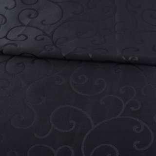 Жаккард скатертный завитки черный, ш.320 оптом